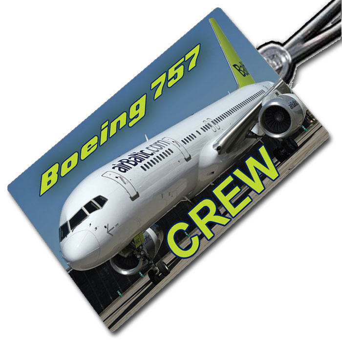 AIR BALTIC 757 - Crew Tag