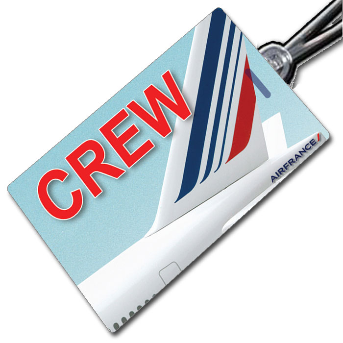 AIR FRANCE Tail Crew Tag