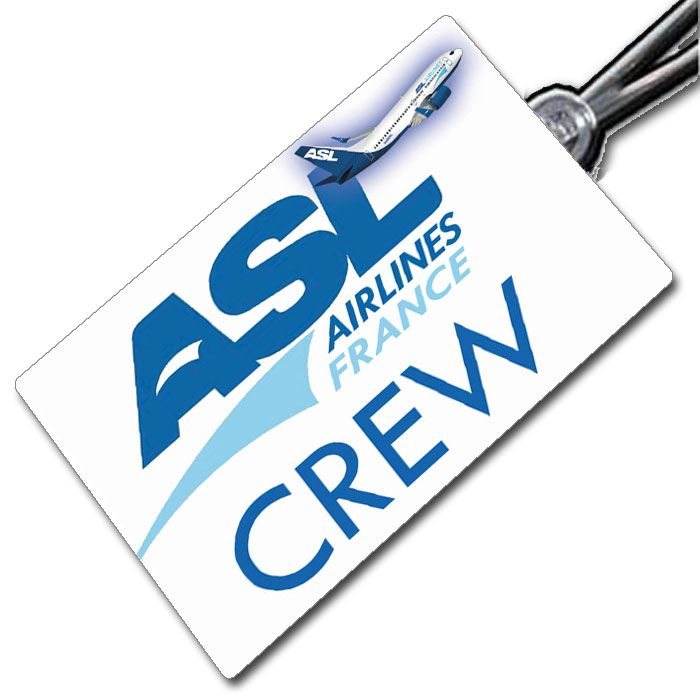 ASL AIRLINES FRANCE 737 Crew Tag