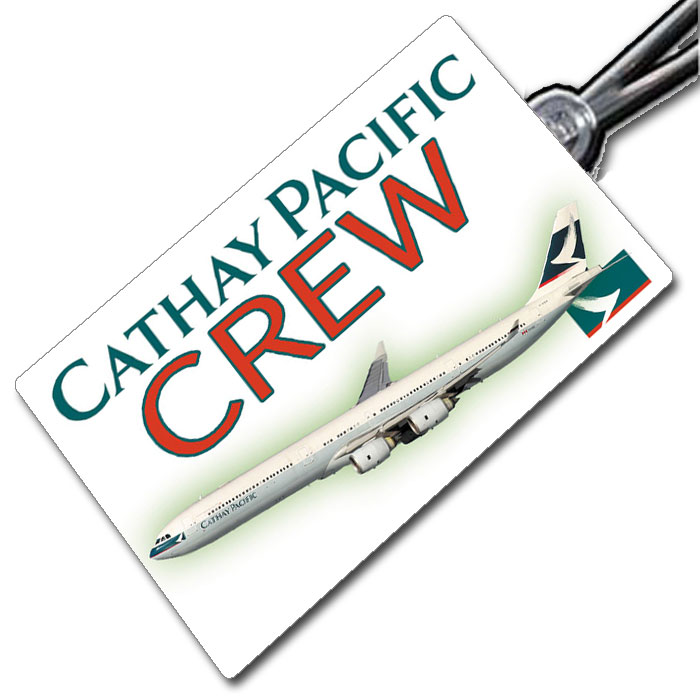 Cathay Pacific A340-600 tag