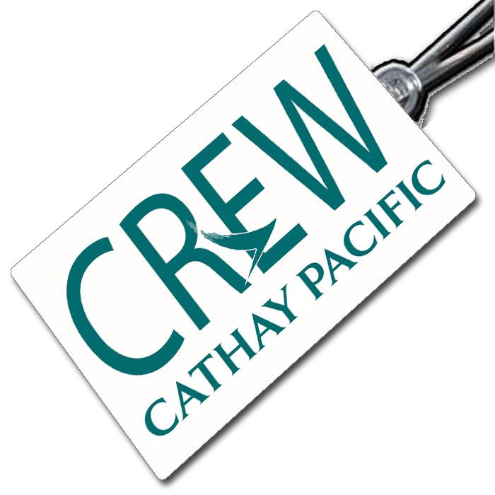 Cathay Pacific logo Crew Tag