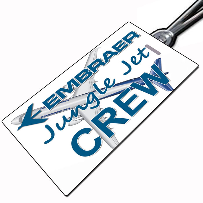 EMBRAER JUNGLE-JET Crew Tag