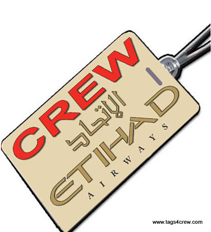 ETIHAD AIRWAYS Crew Tag
