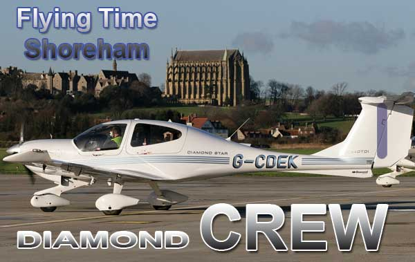 FLYING TIME G-CDEK - crew tag