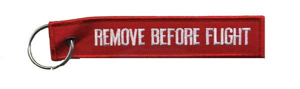 Remove-Before-Flight Keychain