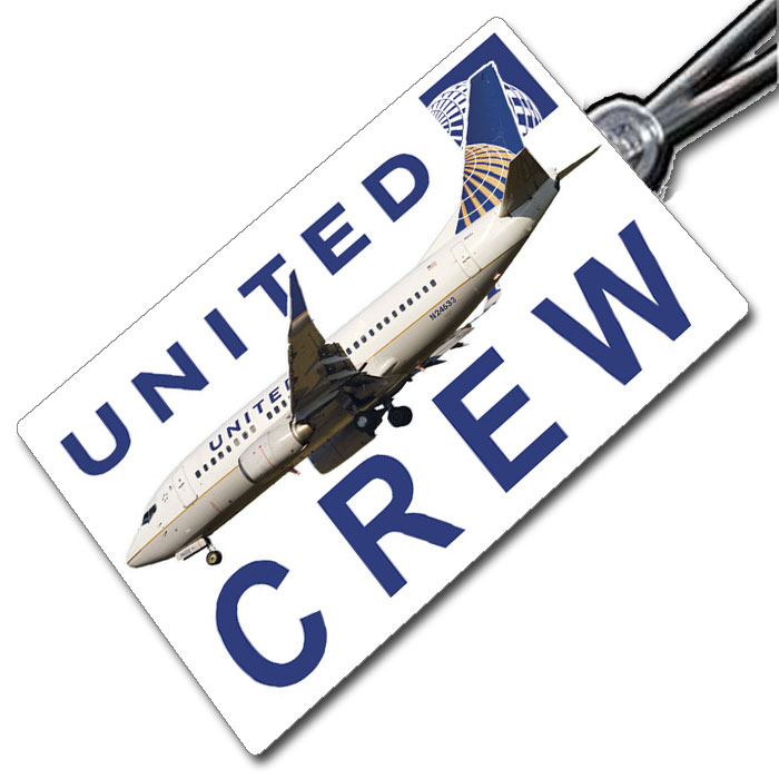 United Airlines Boeing 737-500 Crew Tag