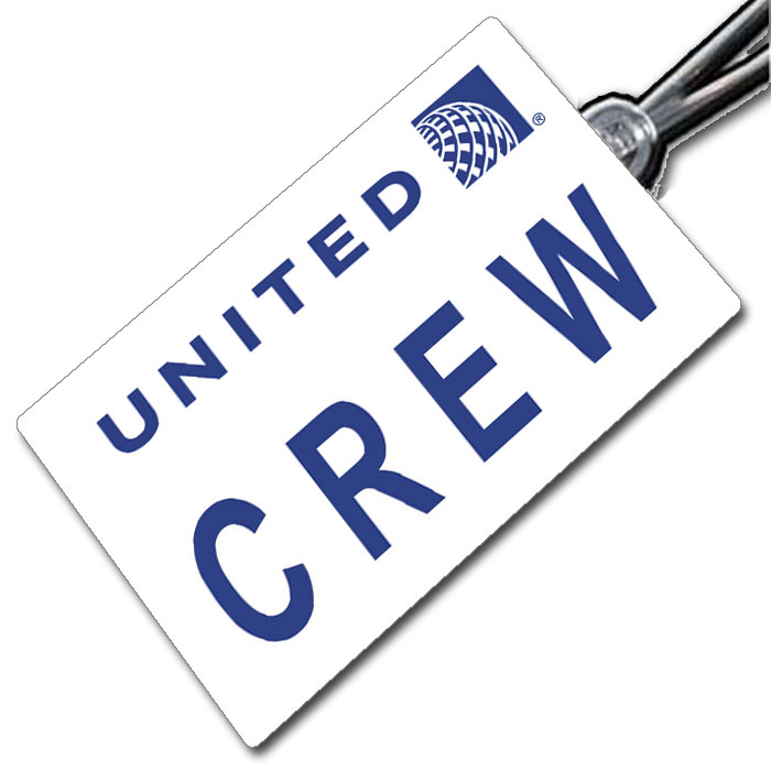 United Airlines Crew Tag